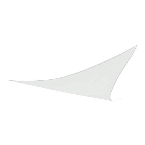 Aktive 61022 Toldo Vela Triangular con protección UV50, Blanco, 500 x 500 x 500 cm