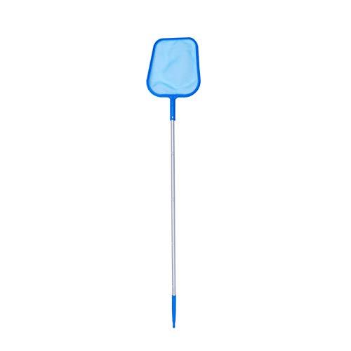 Hemoton Retina Raccogli Foglie per Piscina con Manico Alluminio Lunga,Skimmer per Piscina per Pulizia Piscina Foglie e Detriti,Retino con Sacco per Pulizia Piscina 122cm