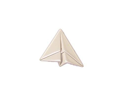 Knighthood Herren Silber Papier Flugzeug Revers Pin/Brosche Brosche/Reversnadel/Lapel Pin/Anzug/Sakko