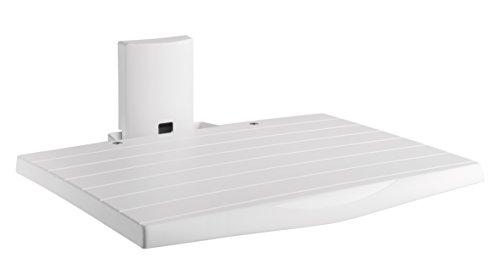 Meliconi AV SHELF, Ripiano per apparecchi A/V, Colore Bianco, certificazione TUV, Made in Italy