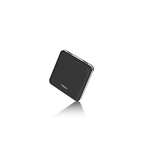 モバイルバッテリー 軽量 小型 薄型 10000mah 大容量 2USBポート 急速充電 コンパクト 携帯充電器 PSE認証済 iPhone&Android各種対応 (ブラック)