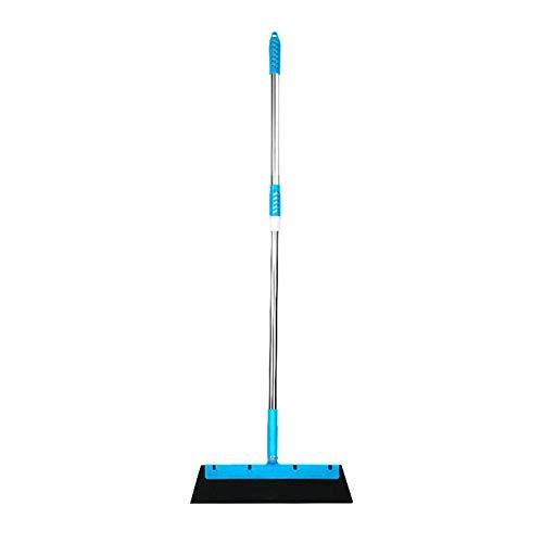 Moseng Multifunción raspador de piso de microfibra fregona giratoria 180 grados fregona escoba limpieza de piso Herramientas Magic Wiper Household Scraper (azul)