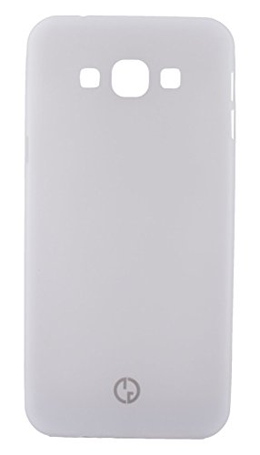GoRogue Frosted Texture Ultra Slim Soft Smooth TPU Back Case Cover with Free Clear HD Screen Guard for Samsung Galaxy Grand Duos I9082 (White)