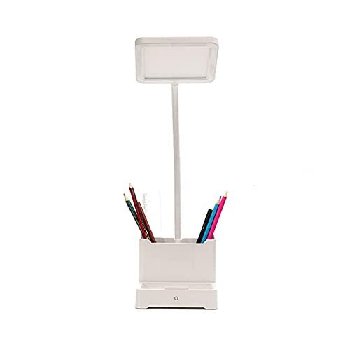 Lámpara Escritorio LED Lámpara de Escritorio LED Multifuncional Recarga/Enchufe Lámpara de protección de Ojos de Doble propósito 5W Lámpara de Lectura de Control táctil Regulable con Soporte para te