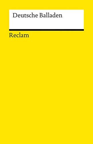 Deutsche Balladen (Reclams Universal-Bibliothek)