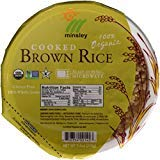 Minsley Cooked Brown Rice Bowl 100 Percent Organic Microwave Ready in 90 Seconds 74Ounce Bowls Pack of 12