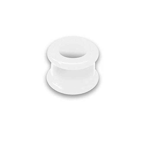 SoulCats® 1 Flesh Tunnel Silikon Double Flared Stern Neon Ear Tube, Größe:16 mm, Farbe:weiß
