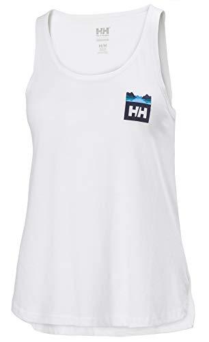 Helly Hansen W Nord Graphic Singlet Débardeur Femme, Blanc, XL