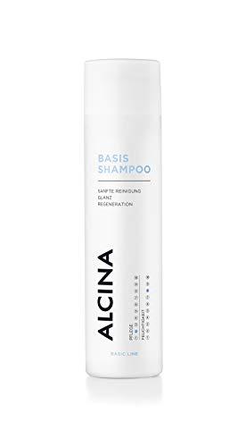 ALCINA Basis-Shampo - 1 x 250ml - Mild-cremiges Shampoo für gepflegtes, glänzendes Haar