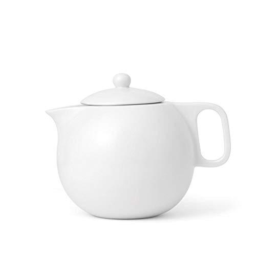 Théière en porcelaine blanche avec bec anti-goutte, 1 litre