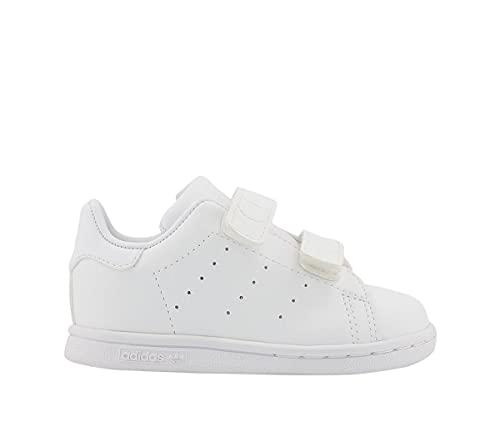 adidas Stan Smith CF, Sneaker Unisex bebé, Footwear White/Footwear White/Footwear White, 25.5 EU