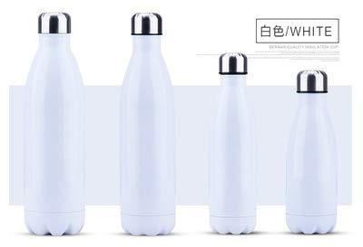 350/500/750/1000ml Double Layer Creative no BPA Water Bottle Stainless Steel Beer Tea Coffee Portable Sports Vacuum Thermos - 1000ML,Golden