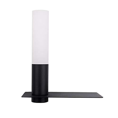 LED Aplique De Pared LED para Lectura con Foco Flexo Blanco Calido Orientable Y Base De Carga USB para Dormitorio Cama Cabecero (Color : Black)