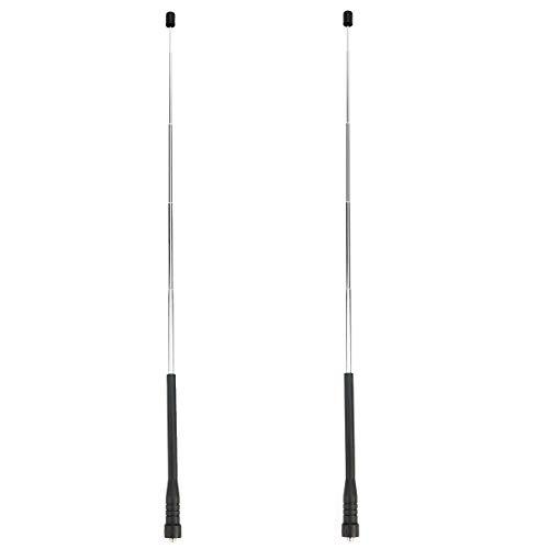 Retevis HA01 Walkie Talkie Antena Retráctil de Alta Ganancia SMA-F Banda Dual VHF/UHF Compatible con Walkie Talkie Retevis RT5 RT5R RT5RV RT7 RT21 Baofeng UV-5R BF-888S (2 Pcs)