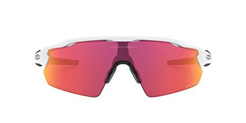 Oakley Men's OO9211 Radar EV Pitch Shield Sunglasses, Polished White/Prizm Field, 38 mm