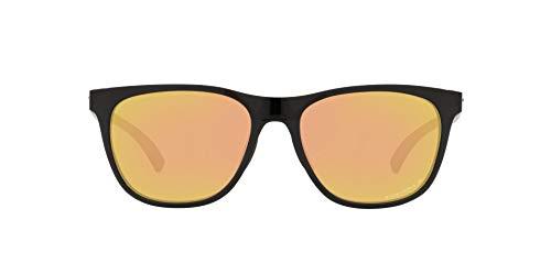 OO9473 Leadline Sunglasses, Polished Black/Prizm Rose Gold Polarized, 56mm