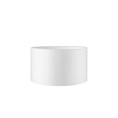 Lampenschirm Rund | Bling | Stofflampenschirm | Textilschirm | Zylinder lampenschirm | Gerade lampenschirm | E27 Fassung | Durchmesser 40cm Höhe 22cm | Rein Weiß | Geeignet Für raumen IP20