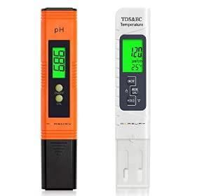 Vegena misuratore di PH e TDS, misuratore di PH Digitale per Il Valore di PH in Piscina e Acquario, Tester di conduttività EC