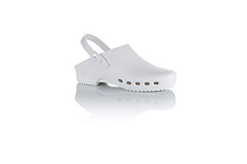Safe Way OP-Clogs OP-Schuhe medizinische Arbeitsschuhe autoklavierbar Fersenriemen (46-47)