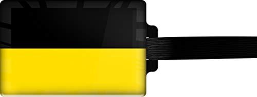 metALUm | Gepäckanhänger Adressanhänger Kofferanhänger verdecktes Adressfeld Flagge Baden-WÜRTTEMBERG stabiles Kofferschild 3001060