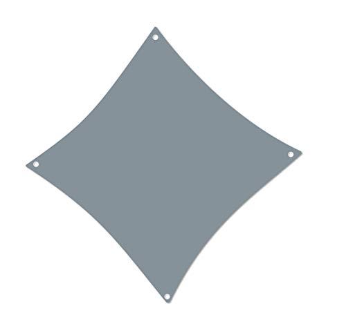 ALOHA Sonnensegel mit UV Schutz wasserabweisend Windschutz wetterschutz Garten und Terrasse (Grau, Quadrat 3x3m)
