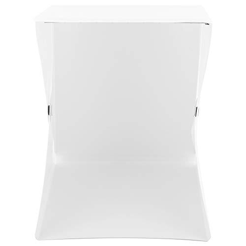 Caja de Estudio fotográfico, Carpa de exhibición de fotografía con Fondos en Blanco y Negro, portátil para sesión de Fotos Productos pequeños Productos de exhibición Fotografía Iluminación