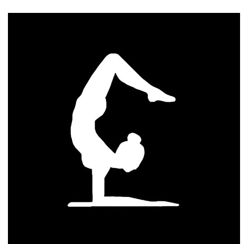 MDGCYDR Pegatinas Coche Graciosas 10,2 * 14,1 Más Fresco Ejercicio Aeróbico Yoga Decoración Vinilo Coche Pegatina Silueta Accesorios Silueta