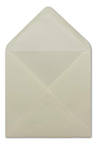 75 kwadratowych kopert w kolorze kremowym – 15,5 x 15,5 cm – 100 g/m² – koronkowa klapka z klejonym na mokro koperty pocztowe bez okienka od Twojego agenta szczęścia xxx.