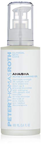 AHA/BHA Acne Clearing Gel, Maximum-Strength Salicylic Acid Acne Treatment, Clears Up and Helps Prevent Acne, Helps Minimize the Look of Acne Marks and Pores