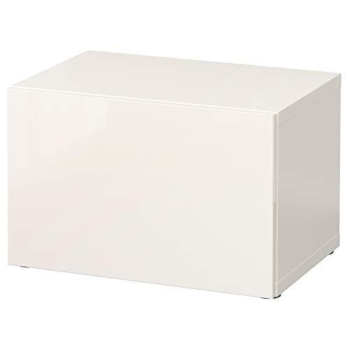 BESTÅ plankenkast met deur 60x40x38 cm wit/Selsviken hoogglans/wit