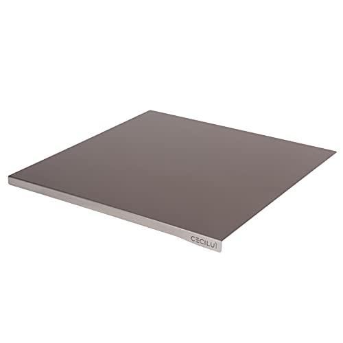 CECILUÌ Tabla para amasar de acero inoxidable de regalo con bolsa de algodón para encimera de cocina, mesa profesional para casa, bar, restaurante, tabla de cortar (40 x 50 cm, borde 2 cm)
