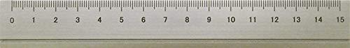 アルミルーラーS 定規 線引き シンプル 0cm表記付き カッター定規 ギフト 15cm アルミ製 ガンメタ DAR-2802 スリップオン