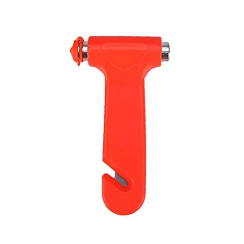 Práctico del coche de seguridad martillo automático durable Interruptor de emergencia portátil Ventana Martillo Rojo, dispositivo de seguridad de coche