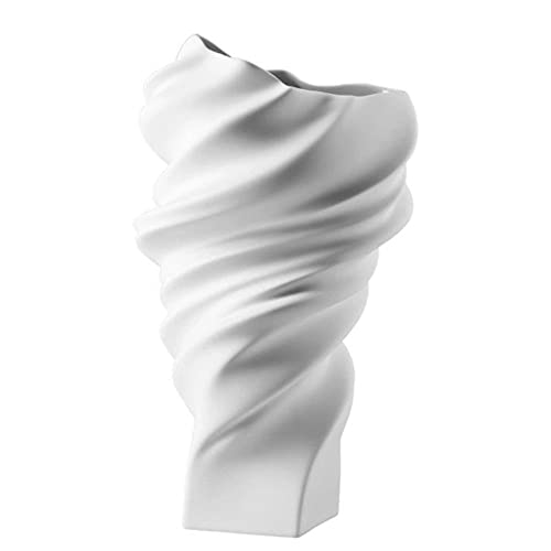 Rosenthal - Vase/Blumenvase Squall - Porzellan - Weiss - matt Höhe 32 cm