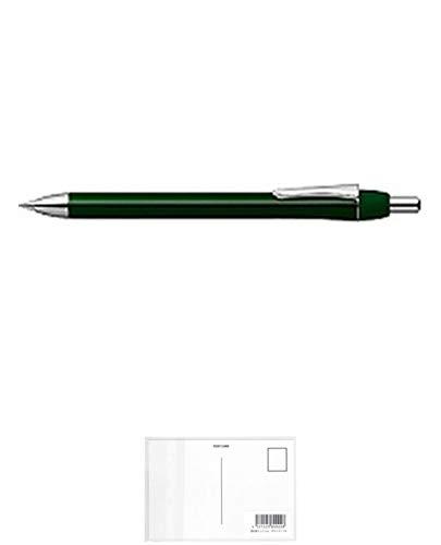 ゼブラ フォルティアef 油性ボールペン0.5 緑 BA92-G 『 2本』 + 画材屋ドットコム ポストカードA