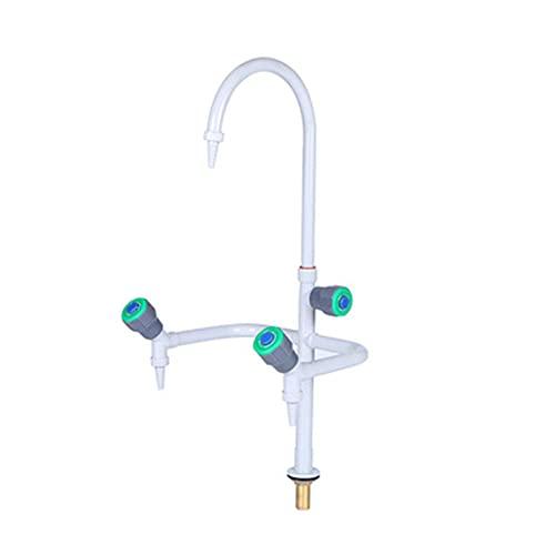 Grifo de laboratorio rociado de cobre tres en uno de tres puertos utilizado en laboratorio escuela hospital