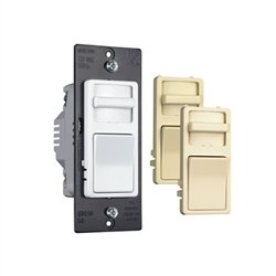 Legrand Pass & Seymour - Wide Slide CFL/LED Preset Dimmer - 3 Interchangeable Colors - Single Pole & 3 Way - 120V - WSCL453PTC