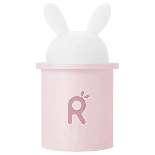 Roze ultrasone luchtbevochtiger, voor baby's konijnen met cartoon zwangerschap 250 ml diffuser voor etherische olie USB-lamp LED luchtreiniger auto 92 * 92 * 156 mm