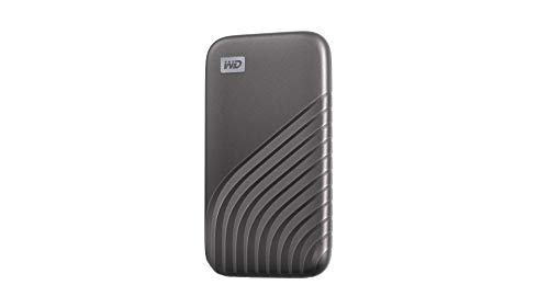 Western Digital 1TB My Passport SSD External Portable Drive, Gray, Up to 1050 MB/s - WDBAGF0010BGY-WESN
