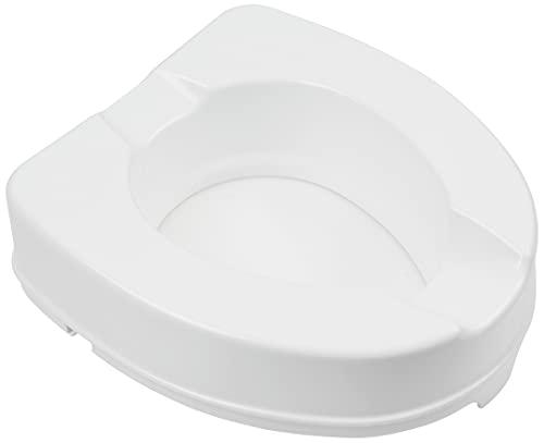 Gima 27741 - Rialzo per WC con sistema di fissaggio laterale, Portata 225 kg, Bianco, Altezza 10 cm