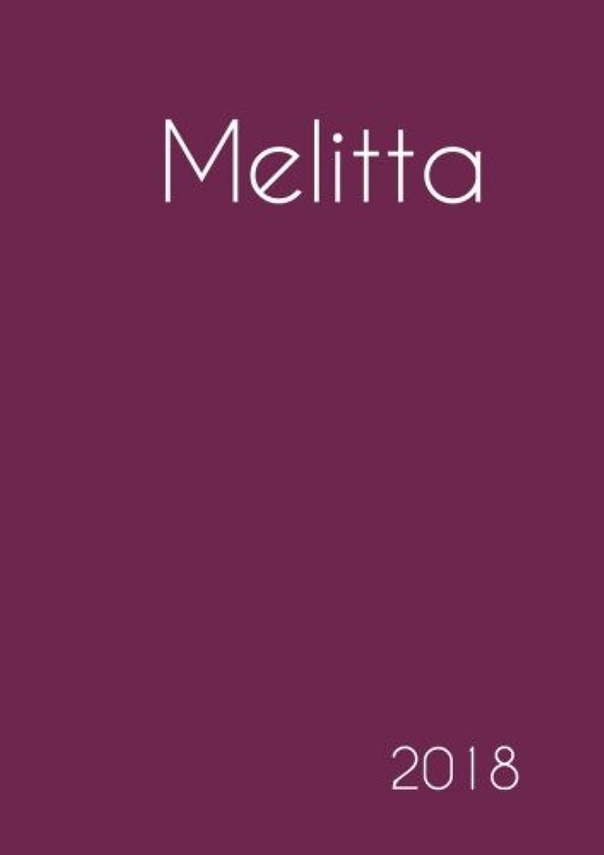 一目明快アルバニー2018: Namenskalender 2018 - Melitta - DIN A5 - eine Woche pro Doppelseite