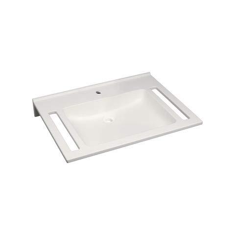 Keramag Waschtisch Agilo 700x550mm ohne ÜL mit Ausschnitten Varicor weiß(alpin)