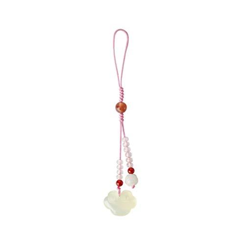 UKCOCO Chaveiro com pingente de telefone estilo chinês Hsiuyen Jade Delicado Bolsa de chaveiro cordão de pulso enfeite para pendurar