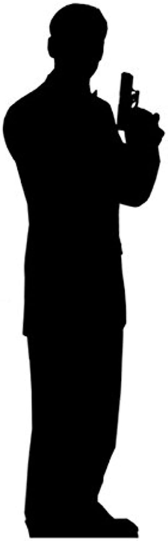 IdealWigsNet Geheimagent Man Silhouette LifeGröße Pappaufsteller - 1.85m