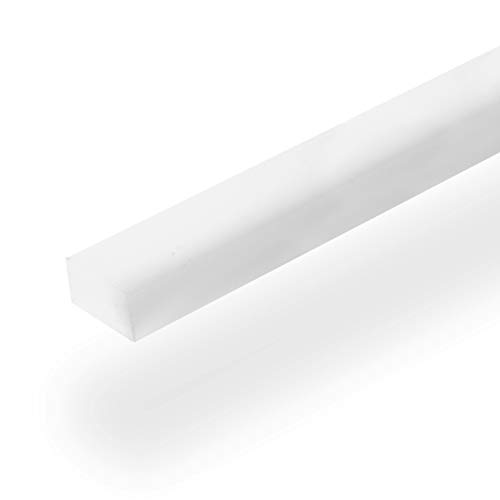 "UHMW Precision Milled Bar 3/4"" X 3/8"" X 48"" For Jigs, Fixtures or Miter Slots (size 3/4"" x 3/8""). Slick Durable Material Slides with Ease. Ideal for Table Saws, Router Table and Bandsaws (1 UHMW Bars)"