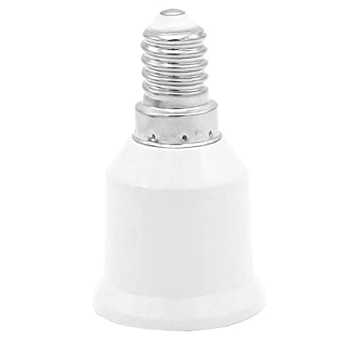 VusiElag E14 a E27 Convertidor de zócalo, Adaptador de la lámpara de Tornillo Adaptador de zócalo para Bombillas LED y Bombillas incandescentes y Bombillas CFL