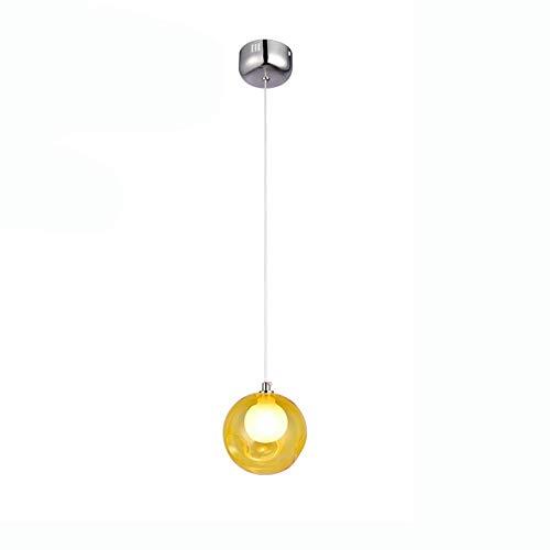 Lámpara colgante luz colgante LED candelabro de bola de burbujas de vidrio de color de dibujos animados sala de estar creativa para niños comedor dormitorio tienda de ropa escalera c