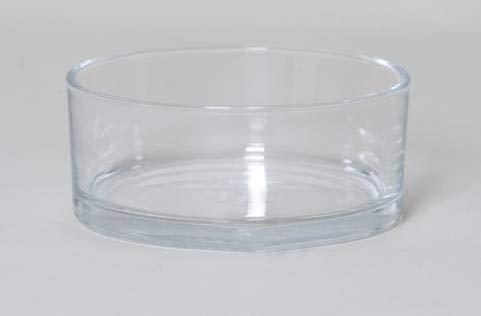 INNA-Glas Frutero Decorativo Corie, cilíndrico/Redondo, Transparente, 8cm, Ø19cm - Recipiente para Frutas - Bandeja de Cristal