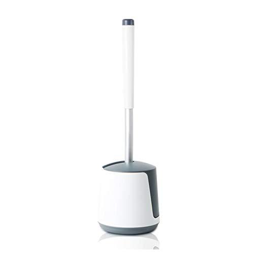 ALYR Toilettenbürstenhalter, Langer Stiel Toilettenbürste Silikon Bristles WC-Bürstenhalter Toilet Brush für Badezimmer leicht zu reinigen und reinigen, ohne Sackgassen,White