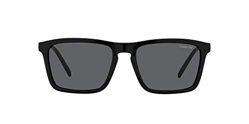 ARNETTE An4283 Shyguy Square Gafas de sol para hombre, Negro/Gris oscuro,